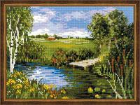 """Набор для вышивания крестом """"У реки"""""""