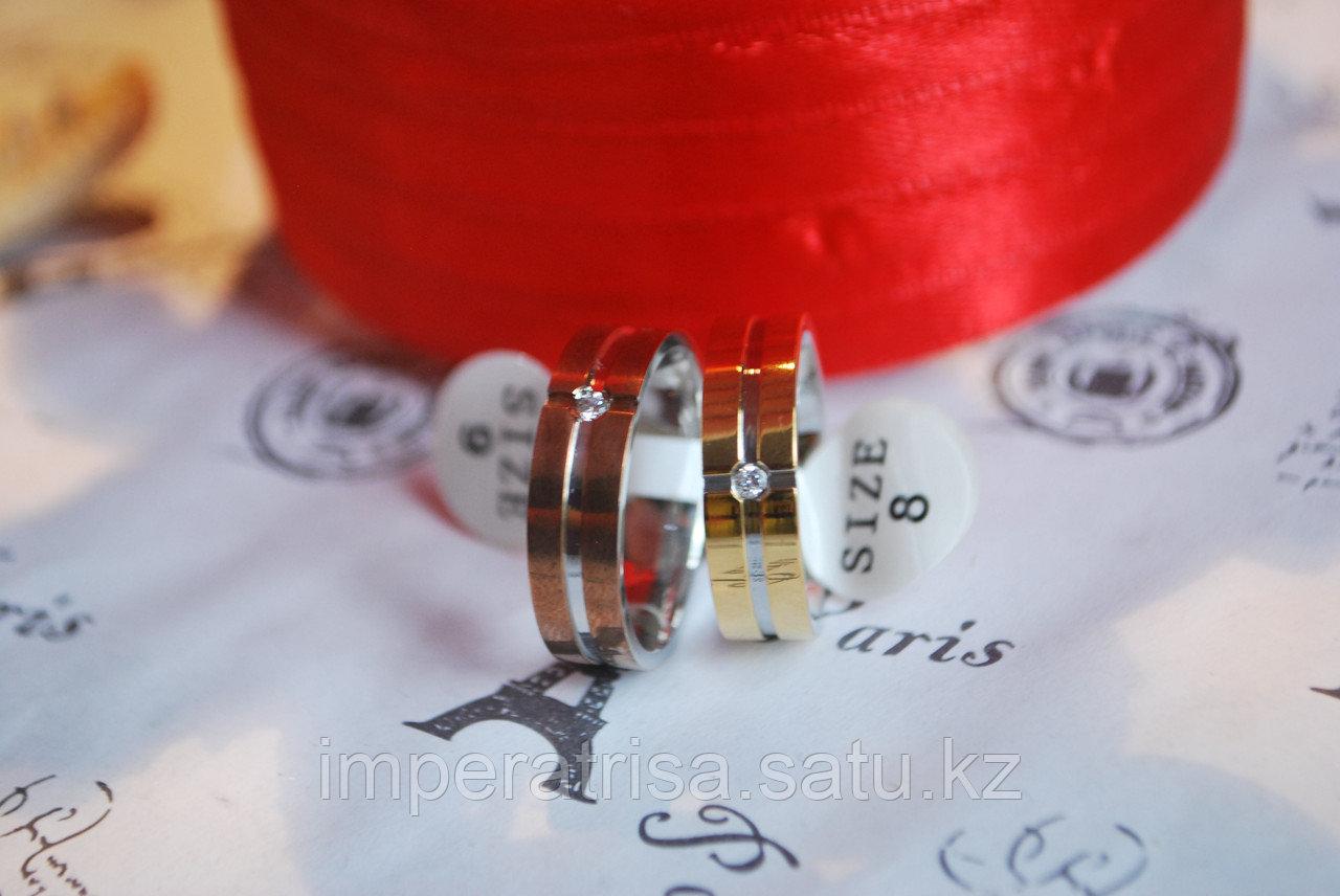 """Двойные кольца для влюбленных """"Красные розы"""""""