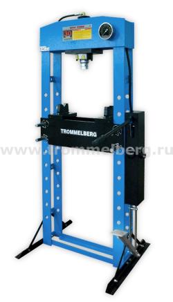 Пресс напольный с манометром и двухскоростным приводом (30 т) Trommelberg SD200824