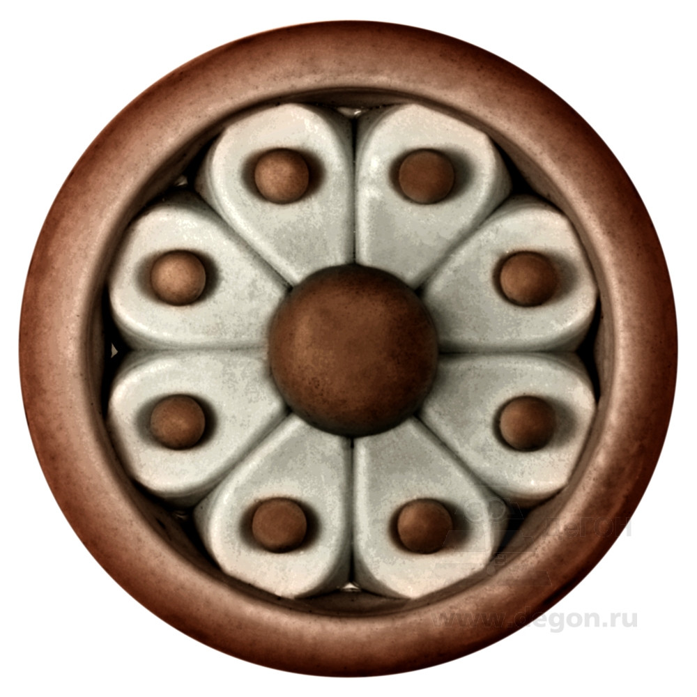 Розетка декоративная Диаметр 46 мм. Толщина 11 мм.