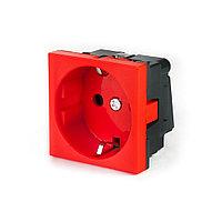 Рувинил, Розетка электрическая, 45x45 мм, Красная, 250В, 16А