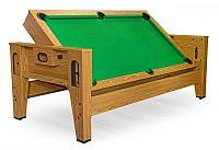 Cтол-трансформер «Twister» 3 в 1 (бильярд, аэрохоккей, настольный теннис, 217 х 107,5 х 81 см, дуб), фото 1
