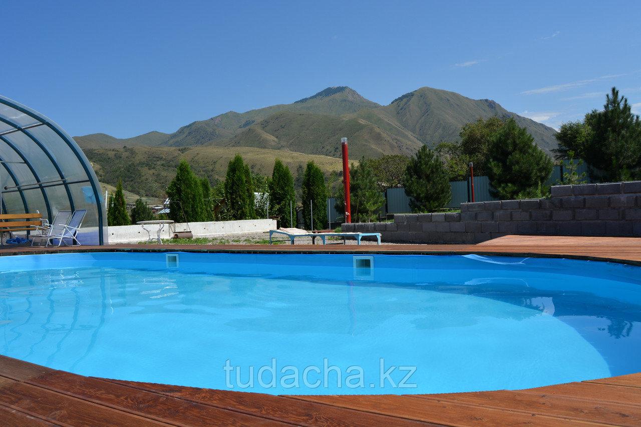 Сезонный открытый бассейн с подогревом