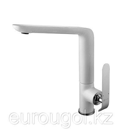 Белый Смеситель для кухни с поворотным изливом Lemark Melange LM4905CW