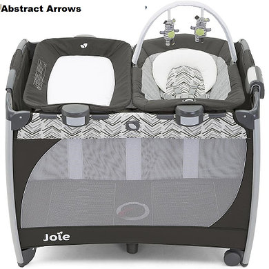 Манеж Joie Playard Excursion change & bounce Classic Stripes