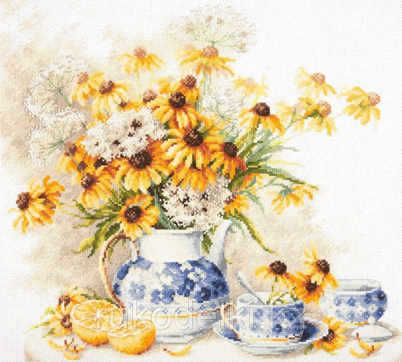 """Набор для вышивания крестом """"Цветочный чай"""""""