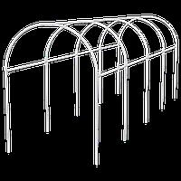 Каркас парника пластиковый 3х1,1х1,2м, дуга d20мм, белый // PALISAD