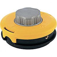 Катушка тримм. полуавтомат.,легкая заправка лески, гайка M10x1,25, винт M10-M10,алюм.кнопка// DENZEL