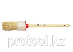 Кисть круглая № 2 (20 мм), натуральная щетина, деревянная ручка// MATRIX