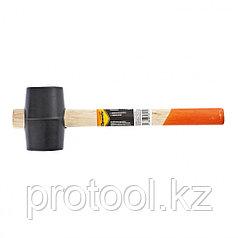 Киянка резиновая, 225 г, черная резина, деревянная рукоятка// SPARTA