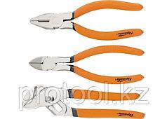 Набор губцевого инструмента из 3-х предметов №2 (плоскогубцы, бокорезы, клещи перестав.)// SPARTA
