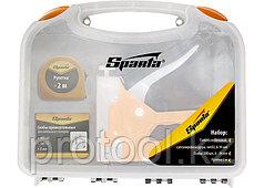Набор: степлер мебельный регулируемый, скобы 500 шт, рулетка 2м., тип скобы 53, 4-14 мм// Sparta