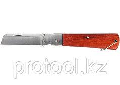 Нож складной, 200 мм, прямое лезвие, деревянная ручка// SPARTA