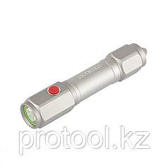 Фонарь автомобильный спасатель,1Вт LED, встроенное лезвие,молоток,3реж.: 100-50-строб, 3хААА// Stern