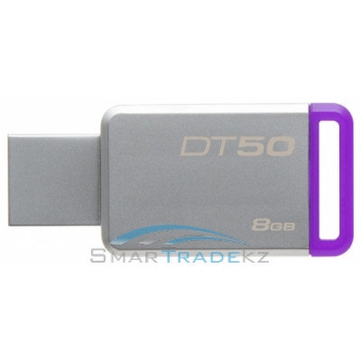 Flash Drive 8GB KINGSTON 3.0 Kingston DT50 silver USB, фото 2