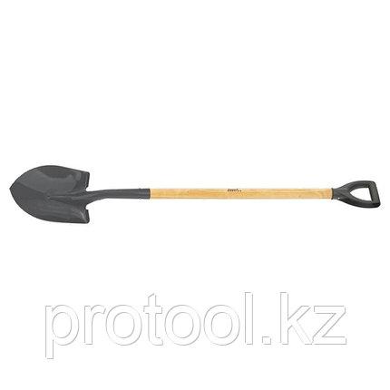 Лопата штыковая, для сыпучих грузов, черенок вс, ЛСГ // СИБРТЕХ Россия, фото 2