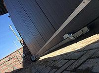 Откатные консольные ворота из сэндвич панелей Ryterna