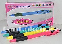 Набор шариковых автоматических ручек 12 штук в ассортименте (стержень синий)