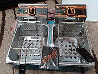 Фритюрница профессиональная на 16 литров двойная (8+8 литров), фото 1