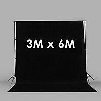 Тканевый фон черный 3X6 М (Бязь)