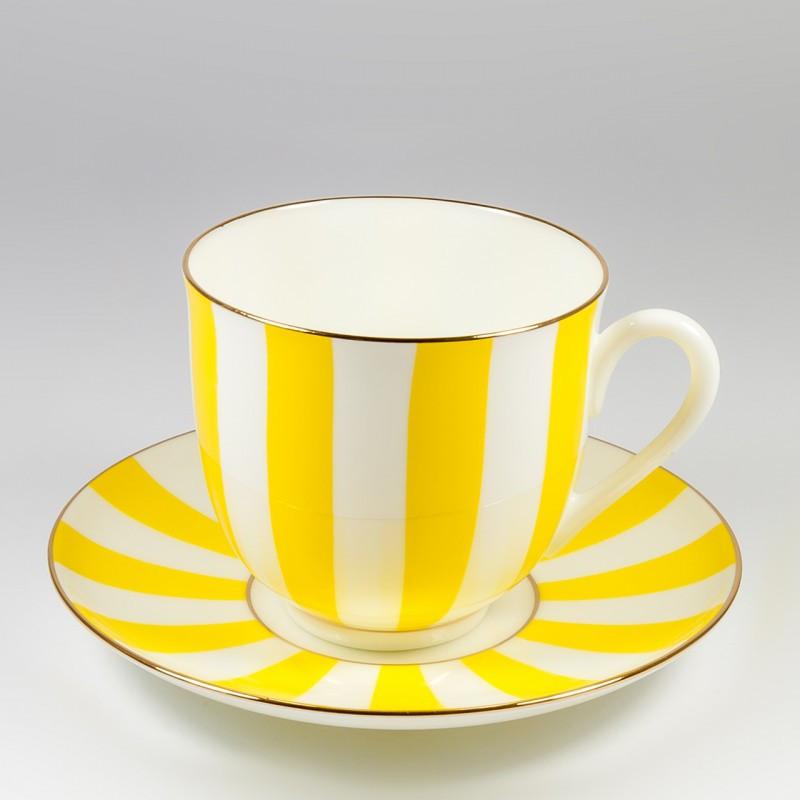Чашка с блюдцем кофейная Да и Нет. Императорский фарфор