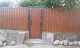 Ворота металлические с металлосайдингом, фото 2