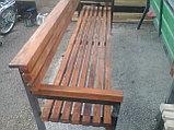 Скамейка садовая - сосна, цвет, лак, фото 2