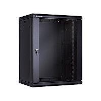 15U Телекоммуникационный шкаф настенный, 600*450*766, цвет чёрный LinkBasic, фото 1
