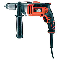 Black & Decker, KR806K, Электронная ударная дрель, 850 Вт, 13 мм БЗП с блок. вала, реверс