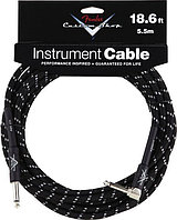 FENDER CUSTOM SHOP 18.6` ANGLE INSTRUMENT CABLE BLACK TWEED