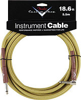 FENDER CUSTOM SHOP 18.6` ANGLE INSTRUMENT CABLE TWEED