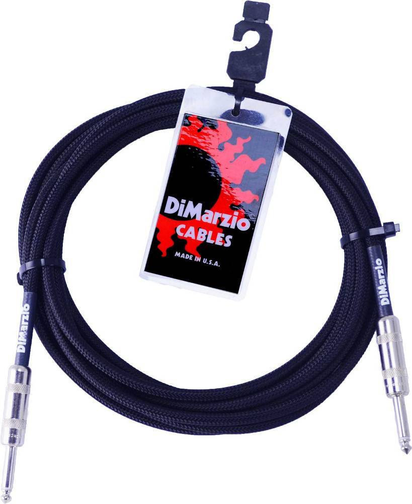 DIMARZIO INSTRUMENT CABLE 18` BLACK EP1718SSBK