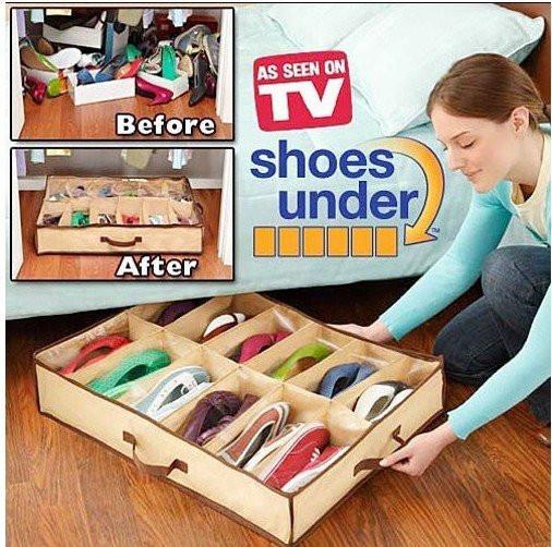 Чемодан органайзер для обуви твердый Shoes Under (12)