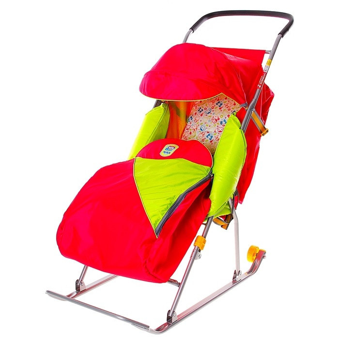 """Детские Санки-коляска """"Тимка 2 Комфорт"""". Цвет малиновый"""