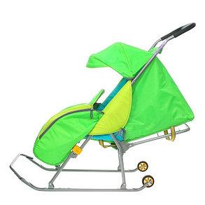 Детские Санки-коляска «Тимка Премиум». Цвет зеленый, фото 2