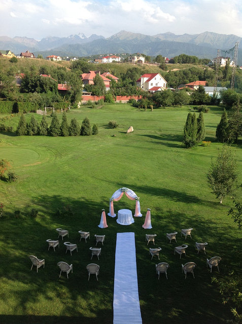Арка, шатер для регистрации. Оформление  выездной церемонии регистрации в Алматы. 10