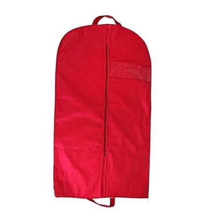 Чехол для одежды, с окном 120х60 см, цвет бордовый, фото 2
