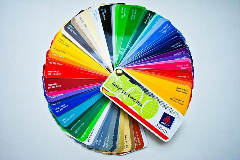 Цветные пленки для плоттерной резки
