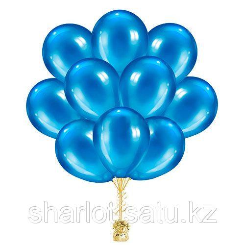 Синие шары 30см