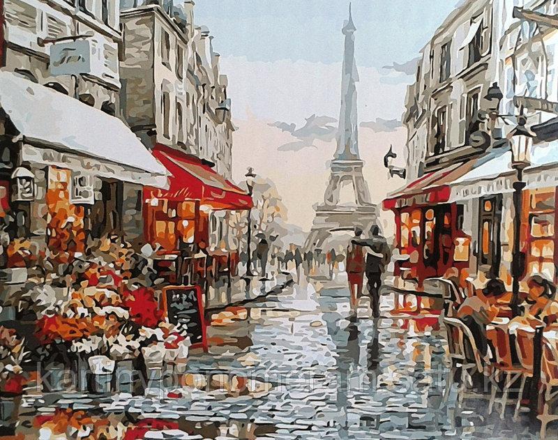 "Картина по номерам ""Улочки Парижа 30х40см"""