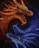 Футболка Драконы Инь и Янь (Светится в ультрафиолете)