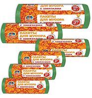 Мусорные пакеты с завязкамиProsto Chis Paketi dl.musora zavyazk.Tsvetn. 120L 18 х 10 sht