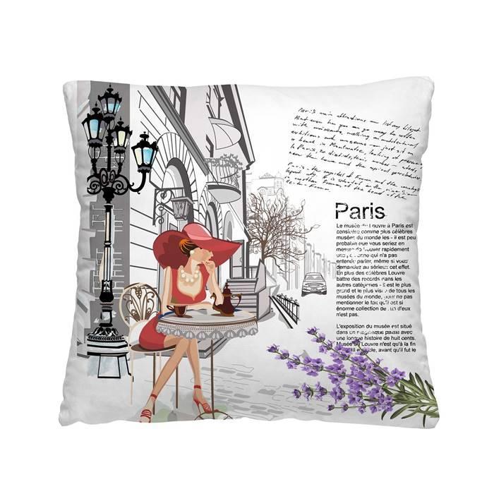 Декоративная подушка Кафе в Париж