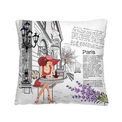 "Декоративная подушка ""Кафе в Париже"""