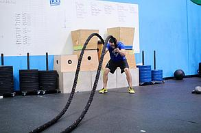 Канат для кроссфита 10 метров диаметр 50 мм. Крученный доставка, фото 3