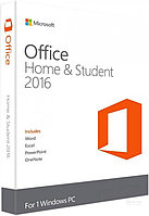 Microsoft Office Home and Student 2016, 1ПК