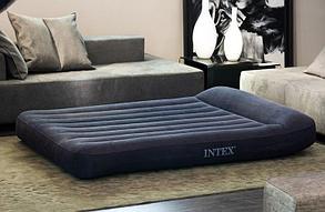 Черный надувной матрас Intex 66769 с подголовником доставка, фото 2