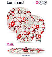 Столовый сервиз Luminarc Carina Leliane Red 25 пр.