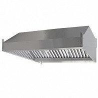Зонт вытяжной пристенный ЗВ-П12/08 1200х800х350мм (жироуловитель)