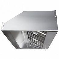 Зонт вытяжной пристенный ЗВэ-П12/08 1200х800х350мм (жироуловитель, вентилятор, подсветка)
